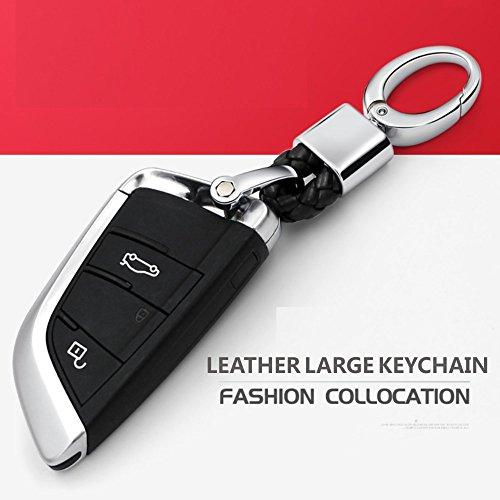 Car Key Acorn Weave Paracode Key Chain Ring Grip Strap fit Porsche Mercedes BMW Cadillac Lexus Ford Toyota VW Honda Chevrolet Dodge Jaguar Land Rover