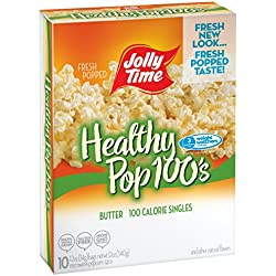 Jolly Time Healthy Pop Butter Microwave Popcorn Weight Watchers Single Serve Mini Bags, 10 Count (Pack of 3)