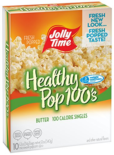 Jolly Time Healthy Pop Butter Microwave Popcorn Weight Watchers Single Serve Mini Bags, 10 Count (Pack of - Orville Smart Pop