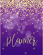 2020-2021 Planner: Jan 2020 - Dec 2021 2 Year Daily Weekly Monthly Calendar Planner W/ To Do List Academic Schedule Agenda Logbook Or Student & Teacher Organizer Journal Notebook, Appointment Business Planners W/ Holidays | Purple Gold