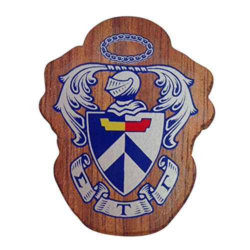 Sigma Tau Gamma Wood Crest Made of Wood for Paddle Mascot Board (1.5 Inch Tall Single Raised)