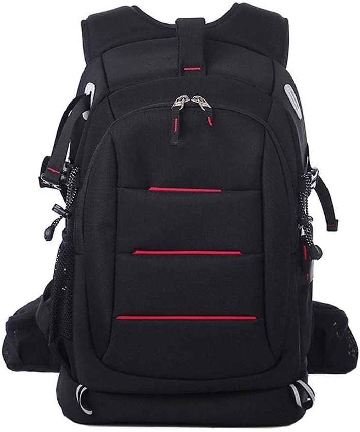 Color : Red TONGSH Large Camera DSLR//SLR Backpack for Outdoor Hiking Trekking,Lens and Accessories Large Capacity Anti-Theft Backpack