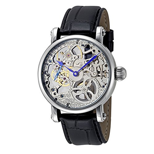 Rougois Hand Wind Decorated Skeleton Movement Watch RMS33S