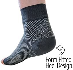 NatraCure Plantar Fasciitis Socks - Compression Foot, Ankle, Heel Sleeves - (Choose Size: S, M, L, XL)
