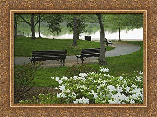 (Washington DC, Franklin D Roosevelt Memorial 24x17 Gold Ornate Wood Framed Canvas Art by Flaherty, Dennis)