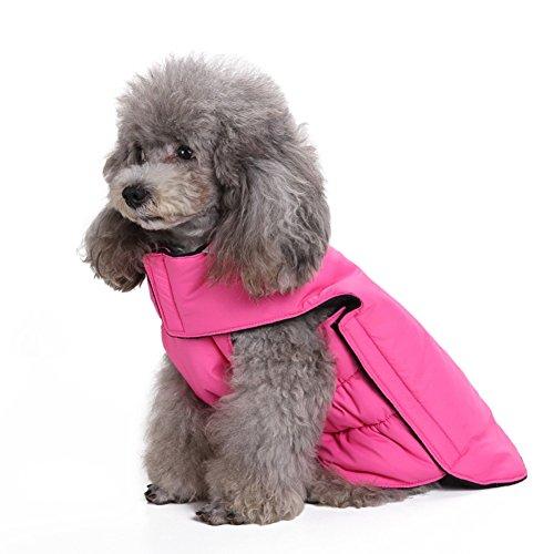 Scheppend Dogs Vest Fleece Jacket Pet Winter Warm Coat Dog sweater Apparel for Cold Weather, Pink - Pet Apparel Coat