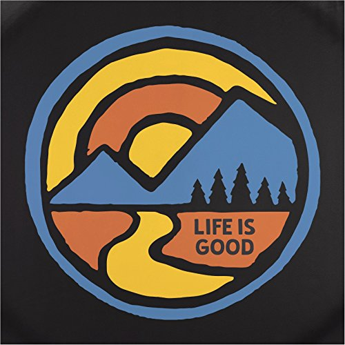 31' Tire (Life is good Unisex Color Block Mountains Tire Cover, Night Black, 31'')
