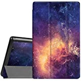 Fintie Slim Case for All-New Amazon Fire HD 8 Tablet (7th and 8th Generation Tablets, 2017 and 2018 Releases), Ultra Lightweight Slim Shell Standing Cover with Auto Wake/Sleep, Galaxy
