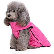 Scheppend Dogs Vest Fleece Jacket Pet Winter Warm Coat Dog sweater Apparel for Cold Weather, Pink L