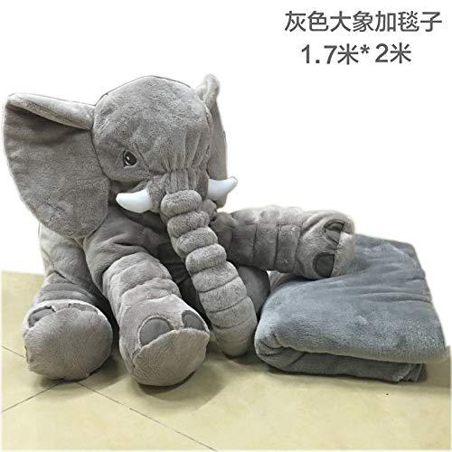 DONGER Beschwichtigen Elefanten Spielzeug Puppe Baby Kissen Puppe Baby Schlafen Schlafen Geburtstag Geschenk Mädchen Plus Decke 1,7  2m Größer Elefant