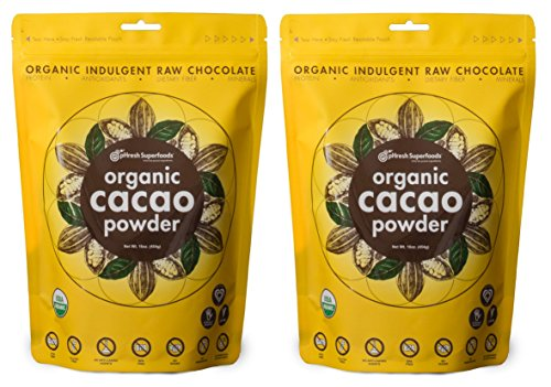 pHresh Superfoods Cacao Powder - 2 Pounds - Unsweetened Healthy Rich Dark Chocolate - Certified 100% Organic Raw Vegan Keto Gluten and Sugar Free Non-GMO for Baking Smoothies and More (Cocoa Maca Loco Smoothie)