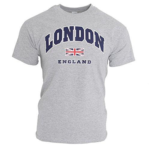 Uomo Sport Grigio Cotone London 100 Maglietta 1wqBUU