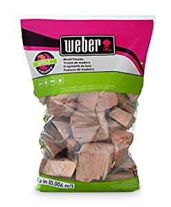 Weber Apple Wood Chunks, 350 cu. in. (0.006 cubic meter)