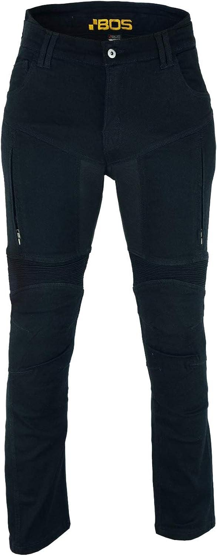 Bos Herren Damen Motorradrüstung Motorradhose Stretch Slim Fit Sportliche Motorrad Jeans Mit Protektoren Schutzauskleidung Prado Bekleidung