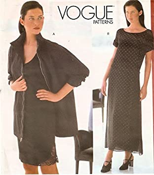 Patrón de costura VOGUE 2116 DKNY chaqueta, vestido, Slip - tamaño 6 - 8-10: DKNY: Amazon.es: Juguetes y juegos