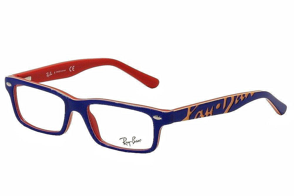 3ebb9ea391bfe Amazon.com  Ray Ban Junior RY1535 Eyeglasses-3601 Top Blue On Red-48mm   Shoes