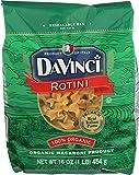 DaVinci Organic Pasta, Rotini, 16-Ounces (Pack of 12)