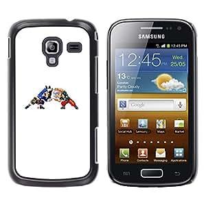 Caucho caso de Shell duro de la cubierta de accesorios de protección BY RAYDREAMMM - Samsung Galaxy Ace 2 - Z Bola