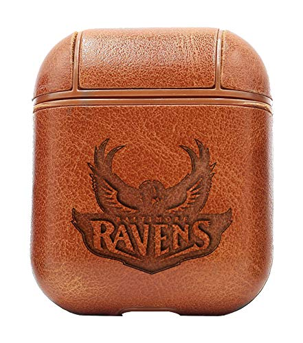 - Logo Baltimore Ravens 2 (Vintage Brown) Air Pods Protective Leather Case Cover - a New Class of Luxury to Your AirPods - Premium PU Leather and Handmade exquisitely by Master Craftsmen
