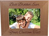 Best CustomGiftsNow Classics Evers - Best Brother Ever Custom 4x6 Inch Wood Picture Review