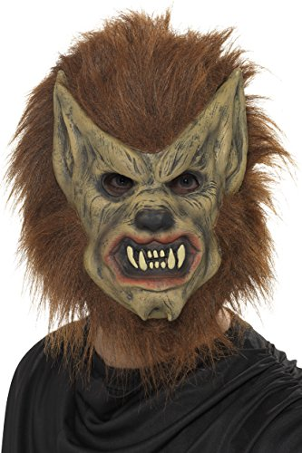 Smiffys Unisex Werewolf Mask, Brown, One Size, -
