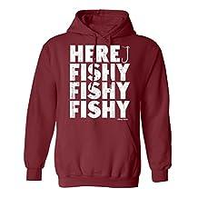 Here Fishy Fishy Fishing Hoodie Or Sweater Mens Ladies Unisex
