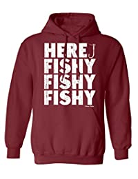 Buzz Shirts Here Fishy Fishy Fishing Hoodie Or Sweater Mens Ladies Unisex