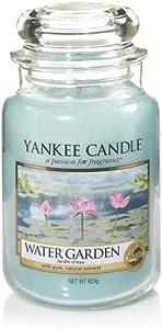Yankee Candle, WATER GARDEN, 22 oz, Housewarming Scented Jar.