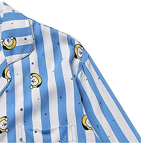 Per Bedgown Bt21 Gfeiw Set Bts Bangtan Kpop Ragazzi Chimmy Pigiama Cartoon Sleepwear Manica Donne Nighty V Harajuku Camicia Home Uomini Suga Lunga Stesso 11wrqd