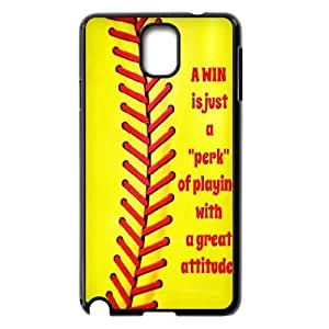 Softball Series, Samsung Galaxy Note 2 Case, Softball Quotes,a Win is Just a Perk of Playing with a Great Attitude Case for Samsung Galaxy Note 2 [Black]