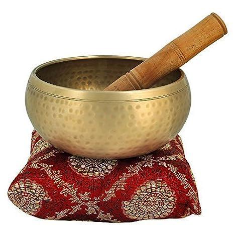 Instrumento Musical para la meditación con palo y cojín 10,16 cm Bell Metal cuenco tibetano superior calidad