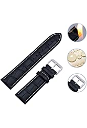 Zeiger 18,20,22mm Swiss Army Waterproof Interchangeable Leather Wrist Replacement Watch Bands Strap Men Women Ladies fit all watch