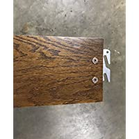 Queen or King 82 Medium Oak Hook-On Wooden Bed Rails. Set of Two. Includes Queen Wooden Rails and Slats