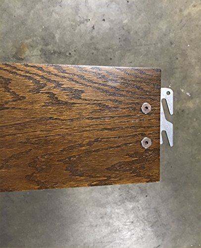 "Queen or King 82"" Medium Oak Hook-On Wooden Bed Rails. Set of Two. Includes Queen Wooden Rails and Slats"