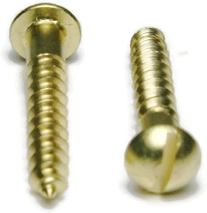 1//4-20 X 1 1//4 Slotted Fillister Machine Screw Brass Package Qty 100