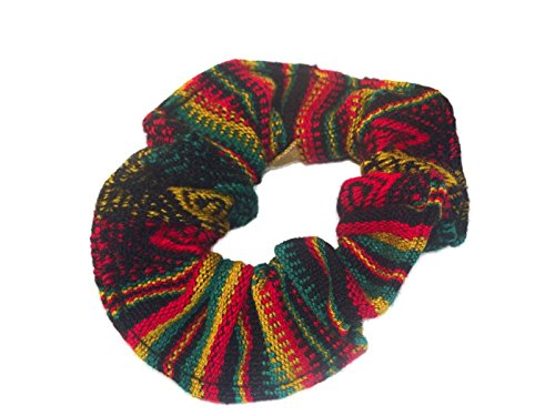 604 Hair Tie Scrunchies 6 Pack Set Cotton Artisan Handmade Peru Assortment Mix