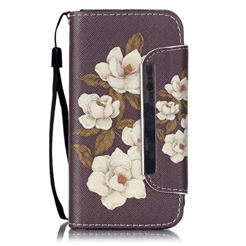 5C Case,iPhone 5C Case,Ngift [Begonia flowers] [Kickstand Feature] Premium Wallet Case [Wallet Function] Flip Case Cover Leather Case for Apple iPhone 5C