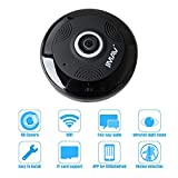 Mini Wireless IP Camera, JMAV 360 Degree Fisheye HD WiFi Camera for Home Security / Baby Monitoring, Plug & Play, Video Recording & Playback, Night Vision, Two Way Audio