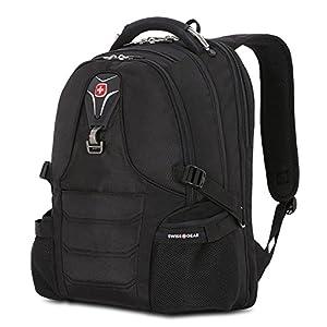 "SwissGear Laptop Notebook iPad ScanSmart Backpack, Outdoor Premium Swiss Gear Book Bag, fits Most 17"" Laptop Computers, Black"