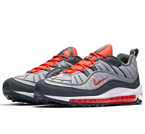 Nike Mens Air Max 98 Shoe Lupo Grigio / Totale Cremisi
