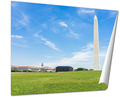 Ashley Giclee Fine Art Print, Washington Monument And Other Memorials In National Mall Washington Dc United, 16x20, - City Is Mall Memorial Where