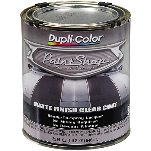 Dupli-Color (BSP307-2 PK 'Paint Shop' Matte Finish Clear Coat Finish System Top Coat - 1 Quart, (Case of 2) (Best Flat Clear Coat)