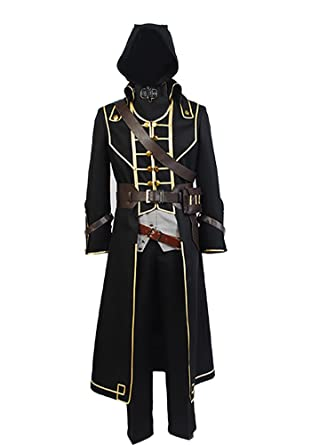 Amazon.com  Yancos Men s Halloween Costume Corvo Attano Cosplay Costume  Suit Outfit  Clothing 335b63ab177