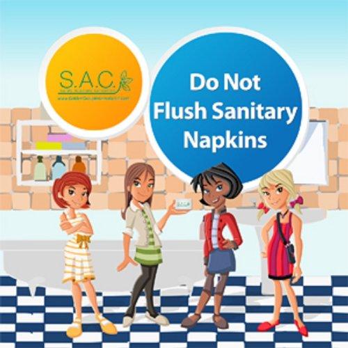 - S.A.C LP4060 Non Adhesive Do Not Flush Sign, 5