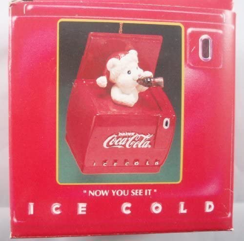 Coca-Cola Ornament Christmas Ice Cold Cooler  NEW