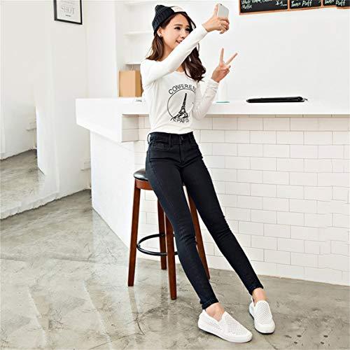Haute Mince Leggings Pantalon Denim Femmes Haute Les Jeans Skinny Slim Delicacydex lastique Crayon Imitation Taille Stretch Jeans Mode nx7WFOAz
