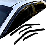 TuningPros WD-696 Tinted Smoke Out-Channel Window Visor Deflector Rain Guard 4-pc Set