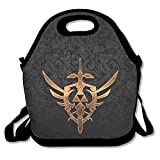 Zelda Sword Tattoo Insulated Lunch Bag/ Backpack / Tote With Zipper, Carry Handle And Shoulder Strap For Adults Or Kids