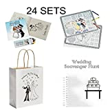 BizzyBecca Wedding Activities for Kids - Individually Packaged Wedding Coloring Books and Crayons, Wedding Favor Bags, Paper Wedding Childrens Activity Placemats and Scavenger Hunt Sheets