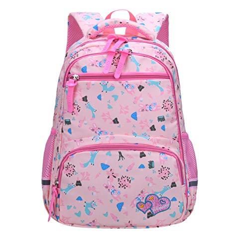 CHUNKUNA Lightweight Backpack,Baby Kid Backpacks for Boys and Girls - 3D Breathable Shoulder Strap Outdoor Travel Backpack Bag Shoulder Bag Lunch Bag Ice Bag (Pink, - Outside Backpack Baby
